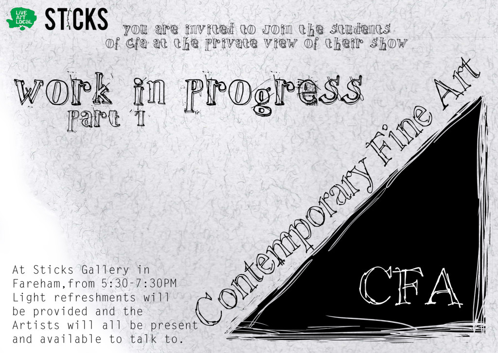 CFA Private View Thursday 10th Dec Sticks Gallery
