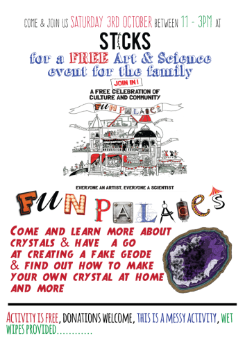 poster for Fareham Fun Palace at Sticks Saturday 3rd October 11am